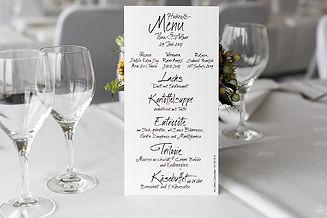 Hochzeit Menükarte Kalligrafie / Lettering