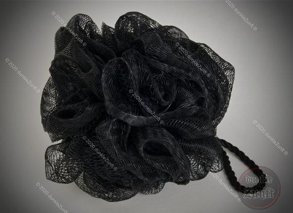 Netzschwamm / Peelingschwamm mit schwarzer Kordel