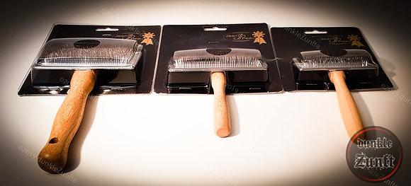 Jean Peau® - Drahtbürste mit Holzgriff - einseitig, viereckig