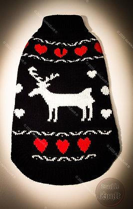 Doogy!® - Hundepullover mit Weihnachtshirsch