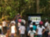 Placas de interpretação ambiental da trilha GGV