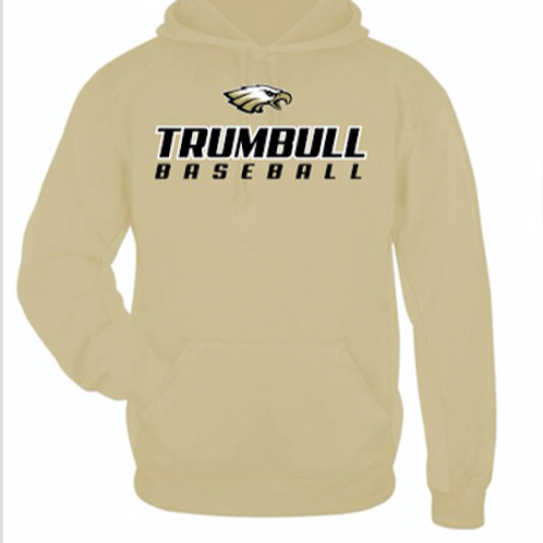 Trumbull Baseball Hoodie with Name & Number