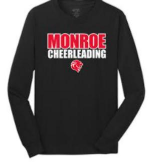 Monroe Cheer Cotton Long Sleeve Tshirt