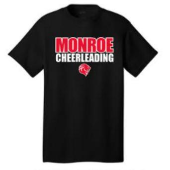 Monroe Cheer Short Sleeve Cotton Tshirt