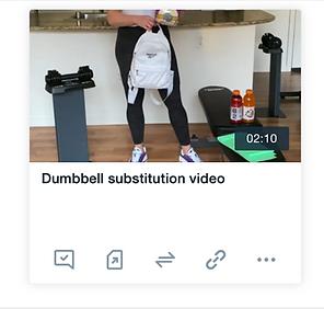 Equipment Substitution Video