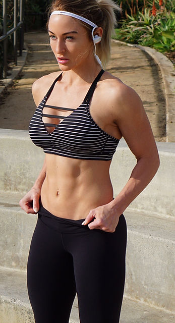 Melissa Le Man who works with women worldwide and helps them loose body fat and gain lean muscle. She is an online women's health and fitness coach, WBFF Pro, Oxygen Magazine covergirl and creator of Shape Yourself 8 we