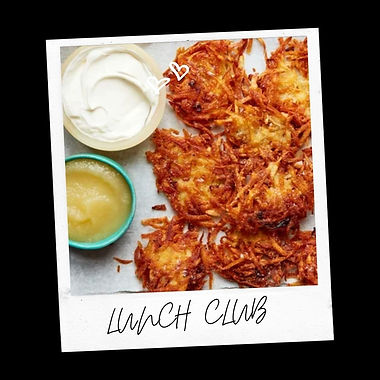 Festive Latkes, Applesauce and Turmeric Lates