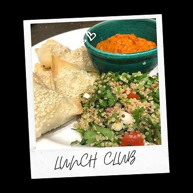 Middle-East Mezze Bourekas,Quinoa Tabbouleh & Harissa Dip