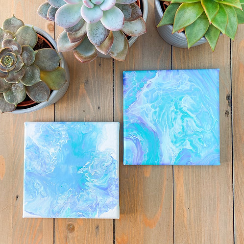 Fluid Art Taster Kit | Caribbean Blue