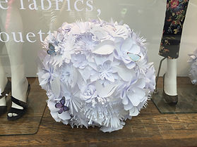 Paper Flowers for window displays
