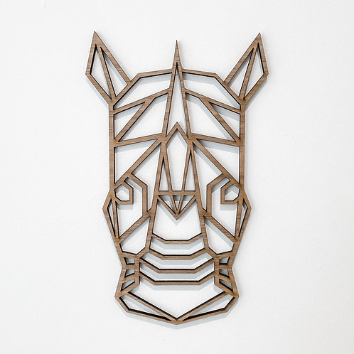 Geometric Wall Art - Rhino