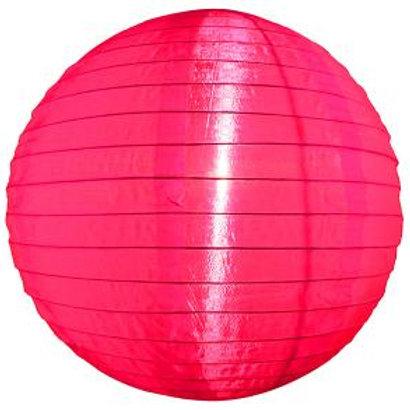 Hot Pink Nylon Hanging Lanterns