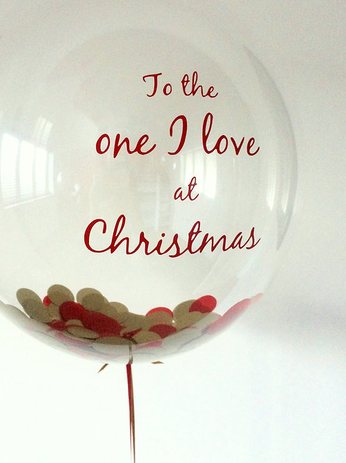 'One I Love at Christmas' Bubble
