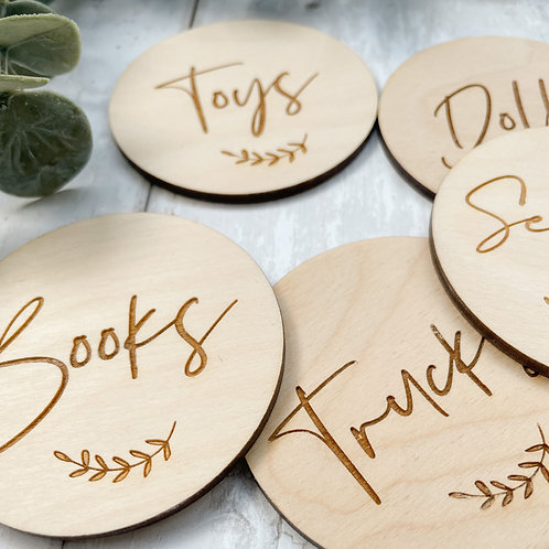 Custom Wooden Storage Discs (individual)