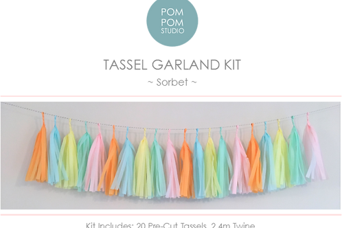 Tassel Garland Kit - Sorbet