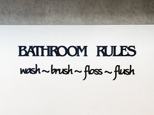 'Bathroom Rules' Wall Art