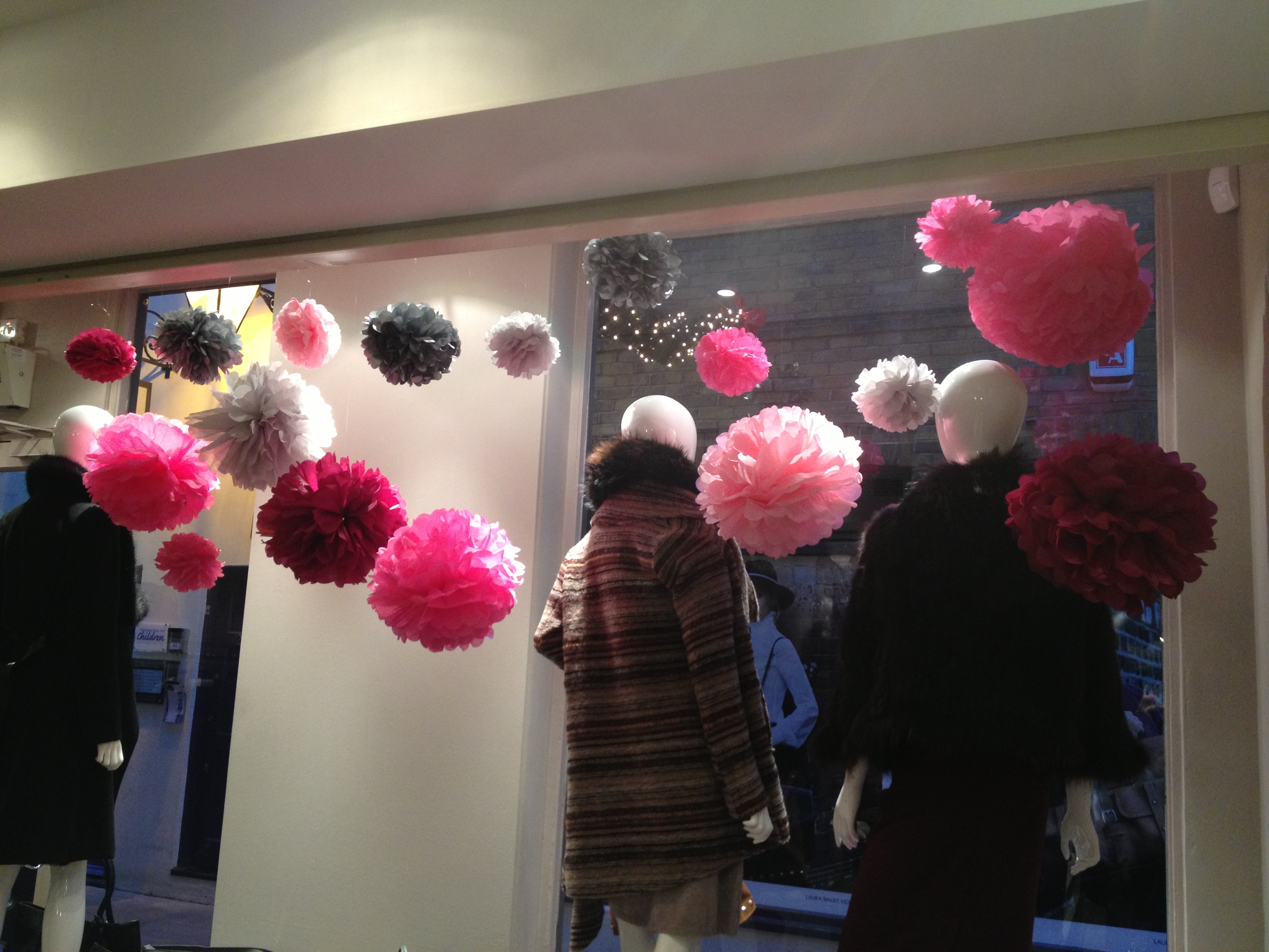 Shop Window Display Paper Poms