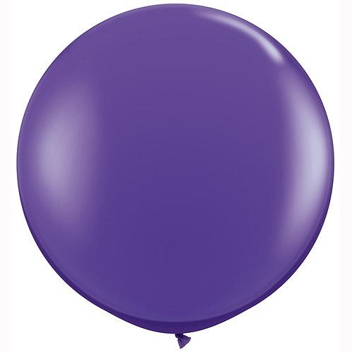 Giant Purple Violet Balloon & Tassel Tail