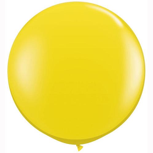 Giant Jewel Citrine Balloon & Tassel Tail