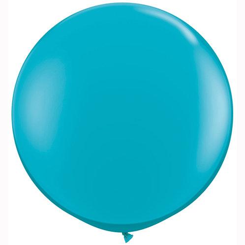 Giant Tropical Teal Balloon & Tassel Tail
