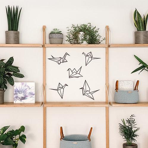 Origami Cranes Wall Art