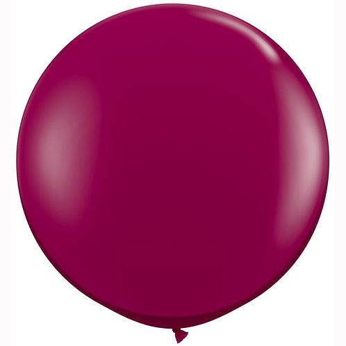 Giant Sparkling Burgundy Balloon & Tassel Tail