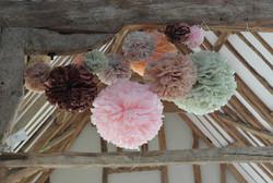 Wedding Decorations | Paper Pom Poms