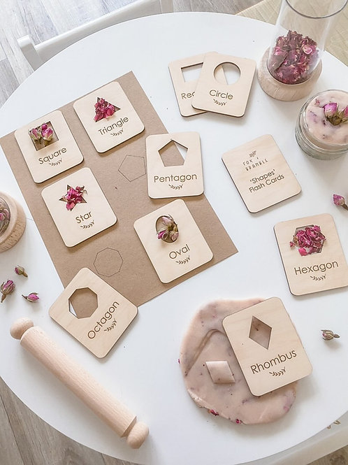 'Shapes' Wooden Flashcards