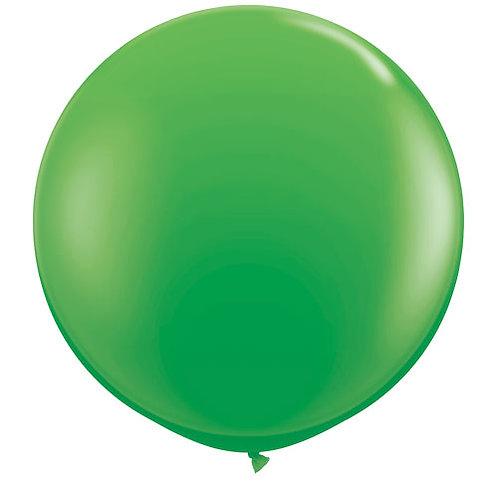 Giant Spring Green Balloon & Tassel Tail