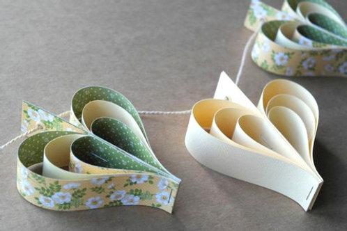 'Pretty Primrose' Paper Hearts
