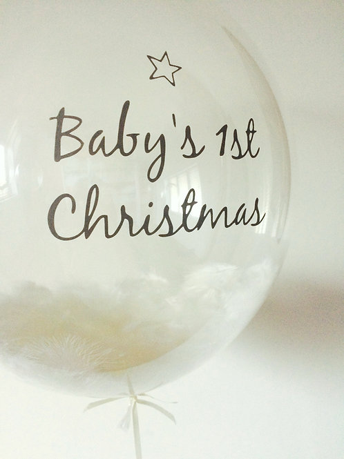 'Baby's 1st Christmas' Bubble