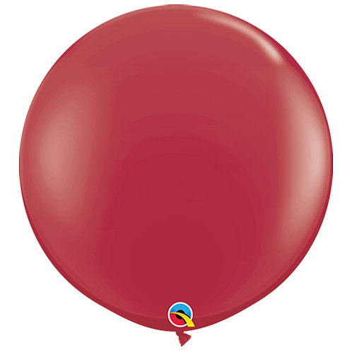 Giant Maroon Balloon & Tassel Tail