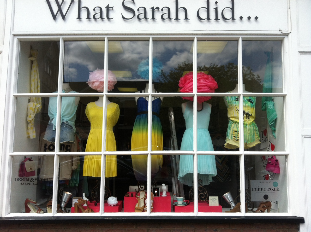 What Sarah did... Shop display