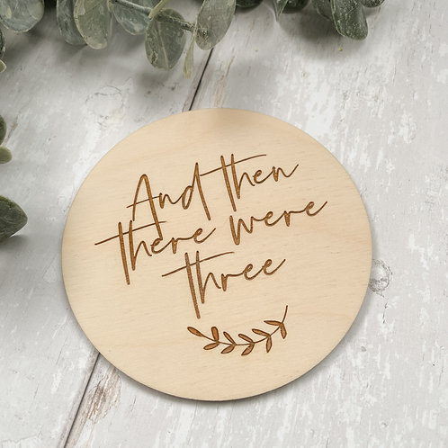 'And Then There Were Three' Disc