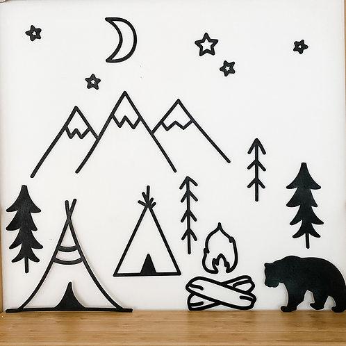 'Wilderness Camping' Wall Art