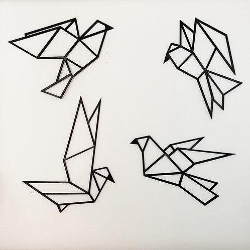 Geometric Origami Birds Wall Art