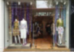 Paper flower garlands, flower strings, window display flower garlands, bespoke paper cutting service