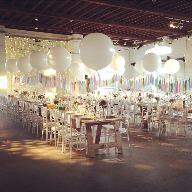 Giant White Balloons and Tassels