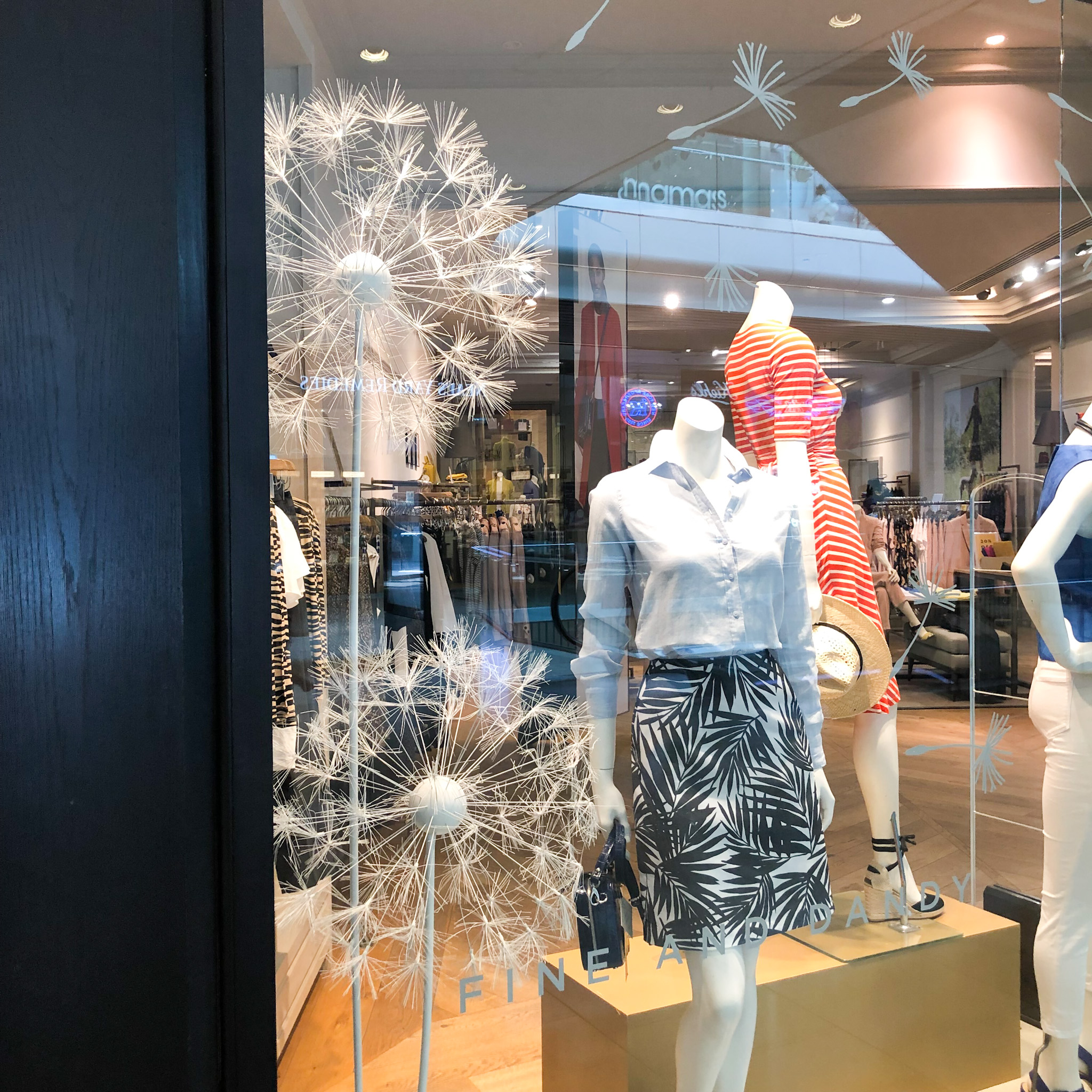 giant dandelions retail display