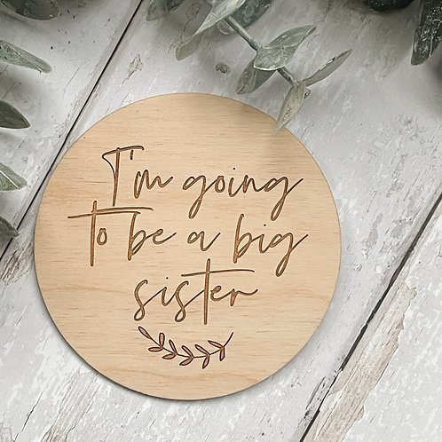 'I'm Going to be a Big Sister' Disc