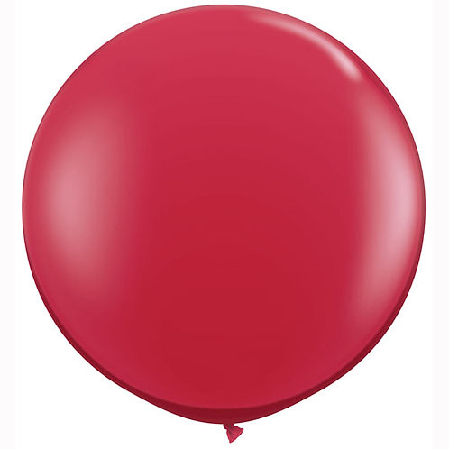 Giant Ruby Red Balloon & Tassel Tail