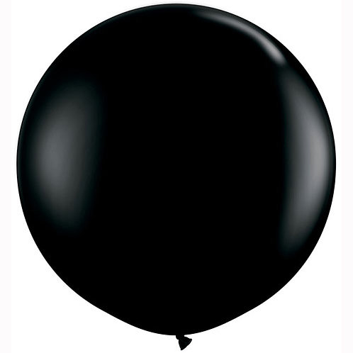 Giant Black Onyx Balloon & Tassel Tail
