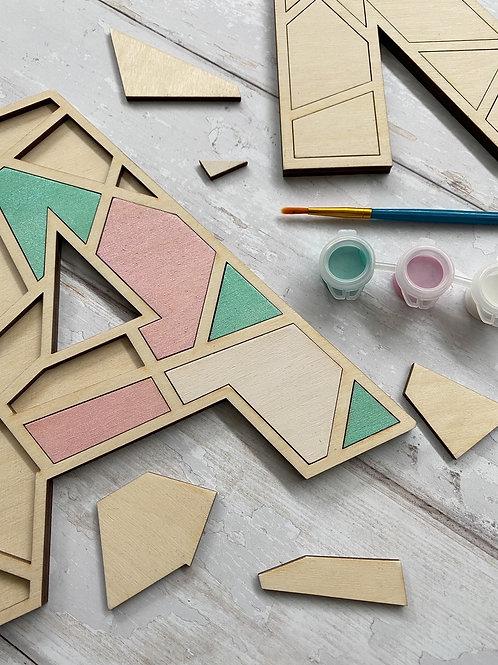 DIY Geometric Painting Puzzle Kit - 'Initials'