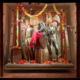 Ralph Lauren Paper Pom Garlands | Window Display