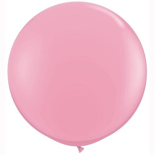 Giant Pink Balloon & Tassel Tail