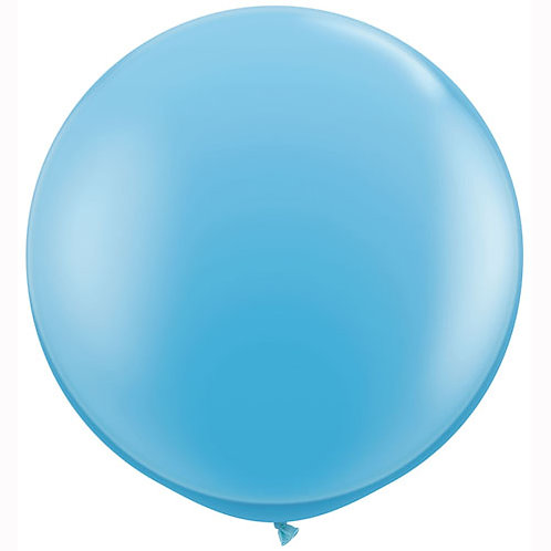 Giant Pale Blue Balloon & Tassel Tail