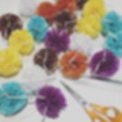 Mini Pom Garlands for Harrods