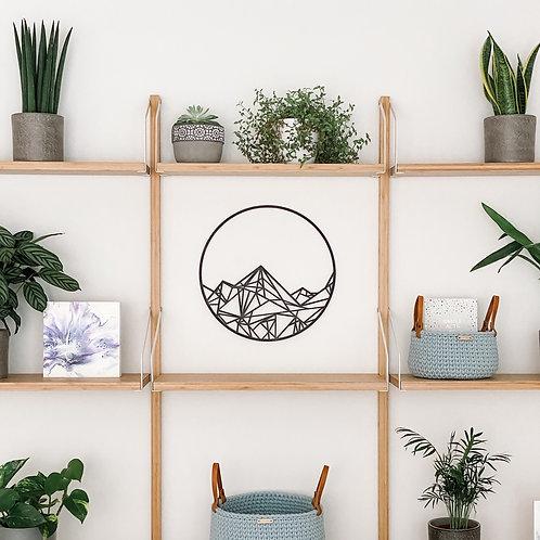 Geometric Mountains Wall Art