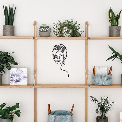 Frida Kahlo One Line Wall Art