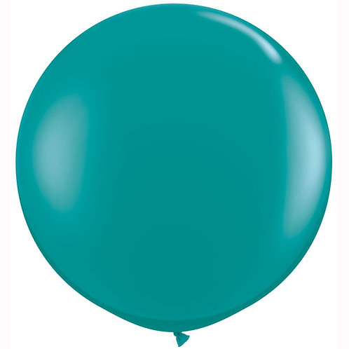 Giant Jewel Teal Balloon & Tassel Tail
